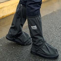 Alta superior à prova dwaterproof água sapatos capas para sapatos da motocicleta ciclismo bicicleta chuva bota capa de chuva para sapatos em creek chuvoso nevando t4