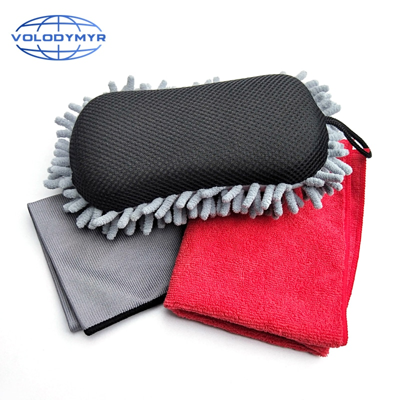 Car Cleaning Kit Car Wash Supplies Microfiber Towel Sponge for Detailing Cleaning Clean Auto Body Windscreen Detail Tools enlarge