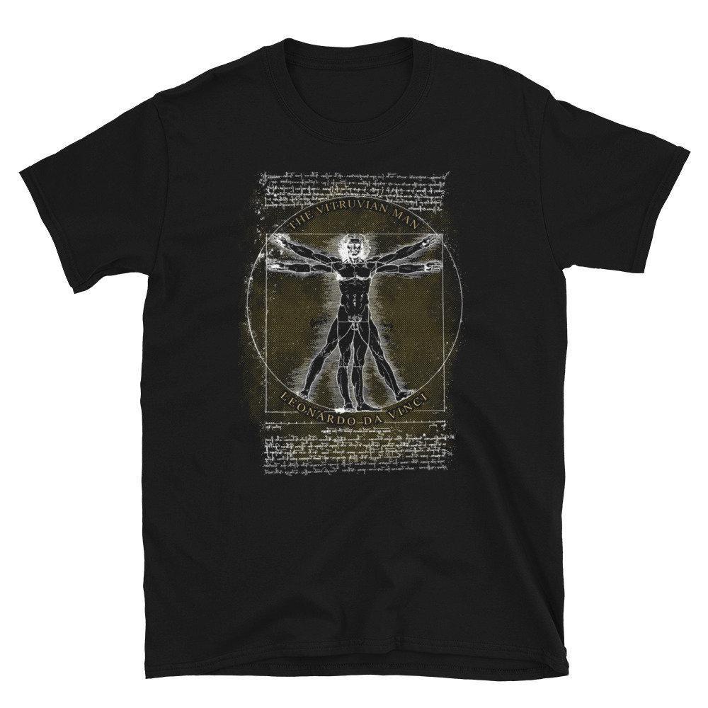 Der hombre de Vitruvio Unisex T camisa Leonardo da Vinci
