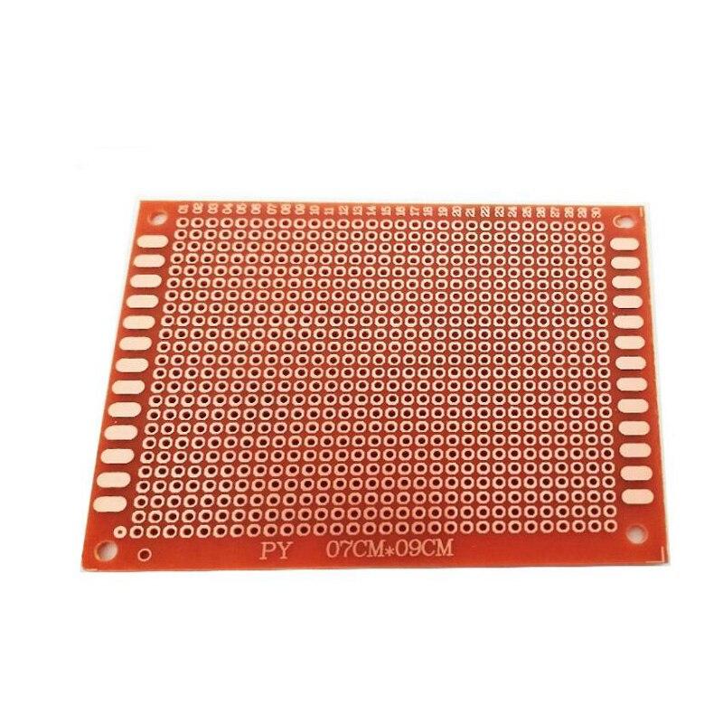 Envío Gratis 50 unids/lote 7x9 cm prototipo PCB Placa de baquelita una capa PCB 7*9 tablero universal para DIY
