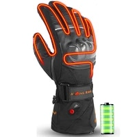 heating ski gloves waterproof gloves with touchscreen fingers snowboard heated gloves warm riding cycling snow gloves men women