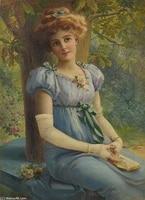 Affiche en soie de peintre Emile Vernon  un doux coup doeil  peinture murale decorative pour la maison