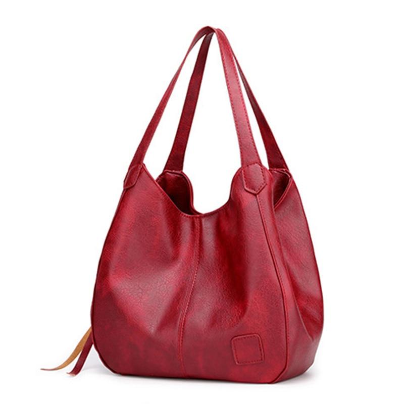 Новинка 2021, винтажные кожаные роскошные сумки, женские сумки, дизайнерские сумки от известного бренда, женские сумки, вместительные сумки-т...