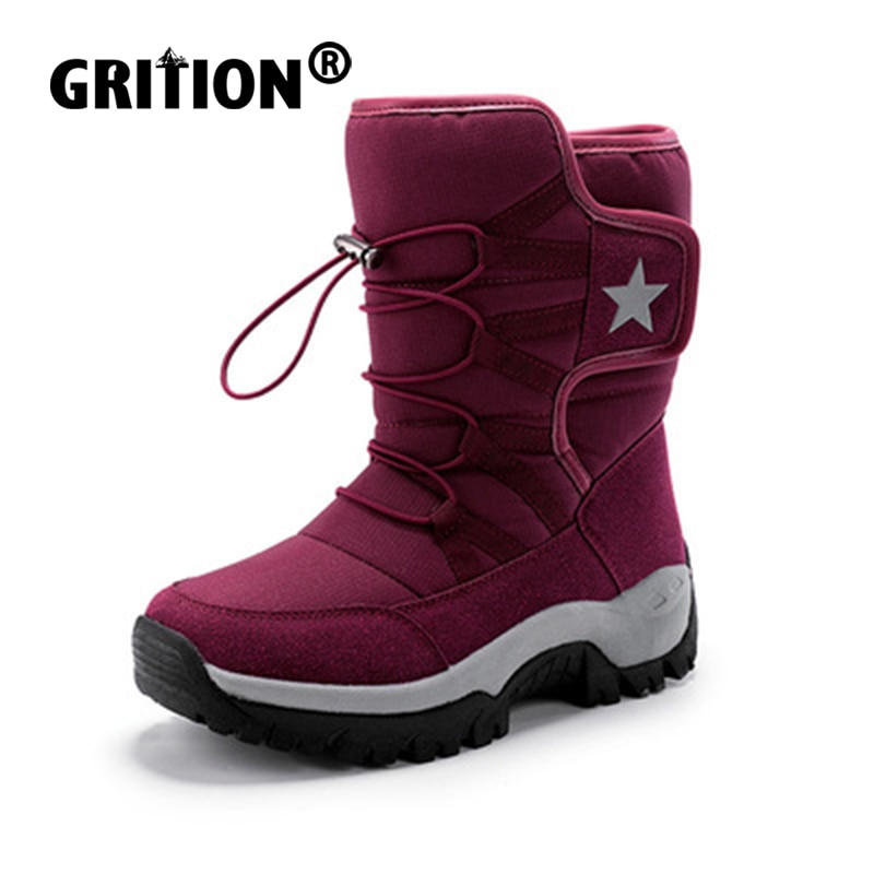 GRITION Mens Hiking Boots 2021 Womens Winter Ankle Boots Keep Warm Fashion Couple Outdoor Trekking C