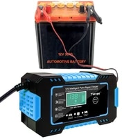 full automatic car battery charger 12v digital display battery charger power puls repair chargers wet dry lead acid