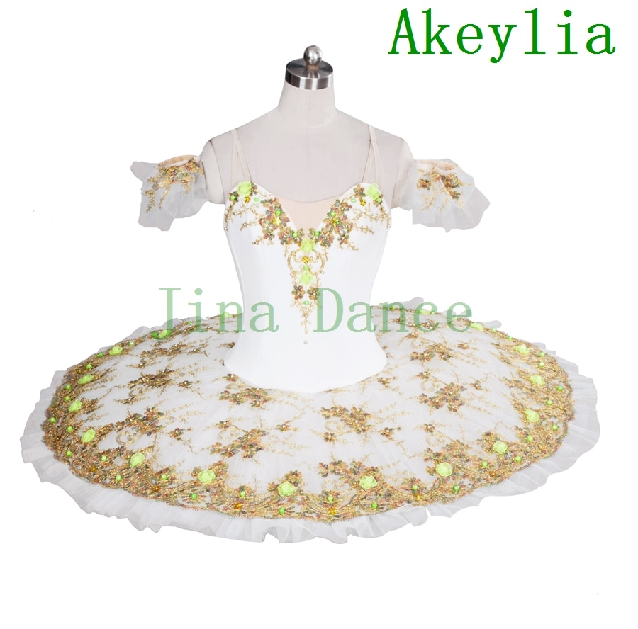 Blanco azúcar ciruela Hada etapa profesional disfraz tutú niñas panqueque tutú vestido actuación y competición para Ropa de baile Mujer