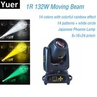new professional lighting rainbow effect 1r 132w moving head beam light 81524 prsim for stage dj lighting wedding disco light