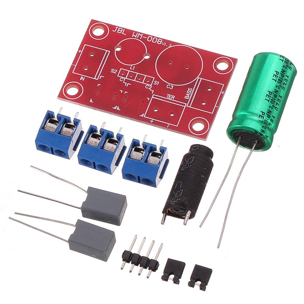 Altavoz bidireccional de cruce de audio KitFever altavoz HIFI depurable sonido Alto y Bajo Kit de cruce de Audio bidireccional