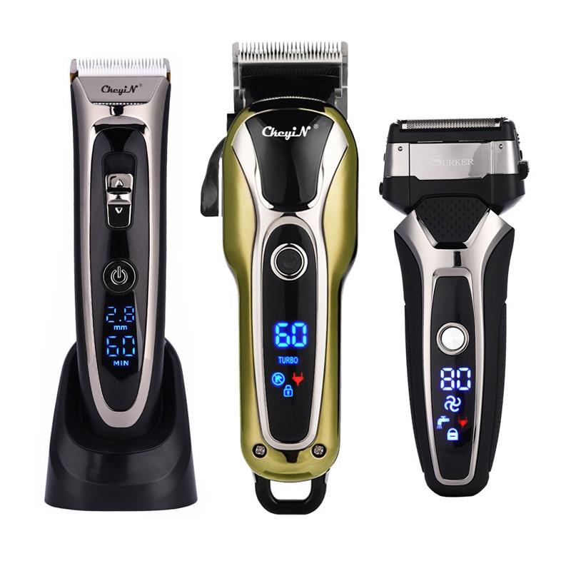 ماكينة قص الشعر الكهربائية الاحترافية للرجال ، ماكينة حلاقة سيراميك مقاومة للماء ، ماكينة حلاقة منخفضة الضوضاء لقص الشعر