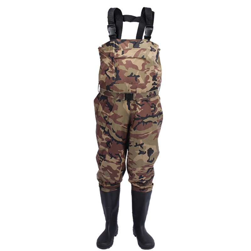 Fly Fishing Chest Waders Clothes Waterproof Breathable Stocking Foot River Wader Pants for Men and Women no-Slip Shoes Boots