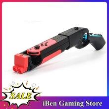 Controle para nintendo ns joy-con, joystick e controlador de jogos, punho de mão, sensor de tiro, jogos