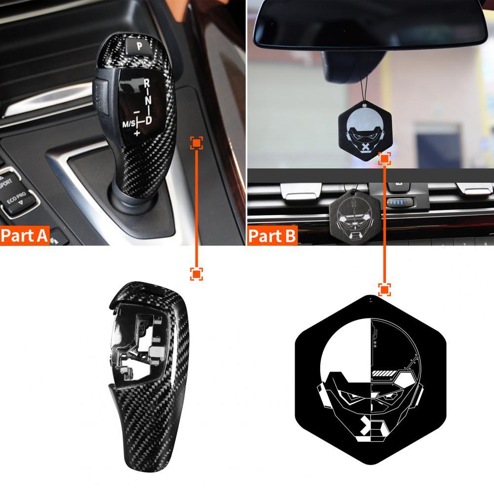 New Style Gear Shift Knob Cover Interior Trim Carbon Fiber Car Sticker for BMWF10F36 F30 F33 F15 F25 F26 F01 F20 F32Car Accessor enlarge
