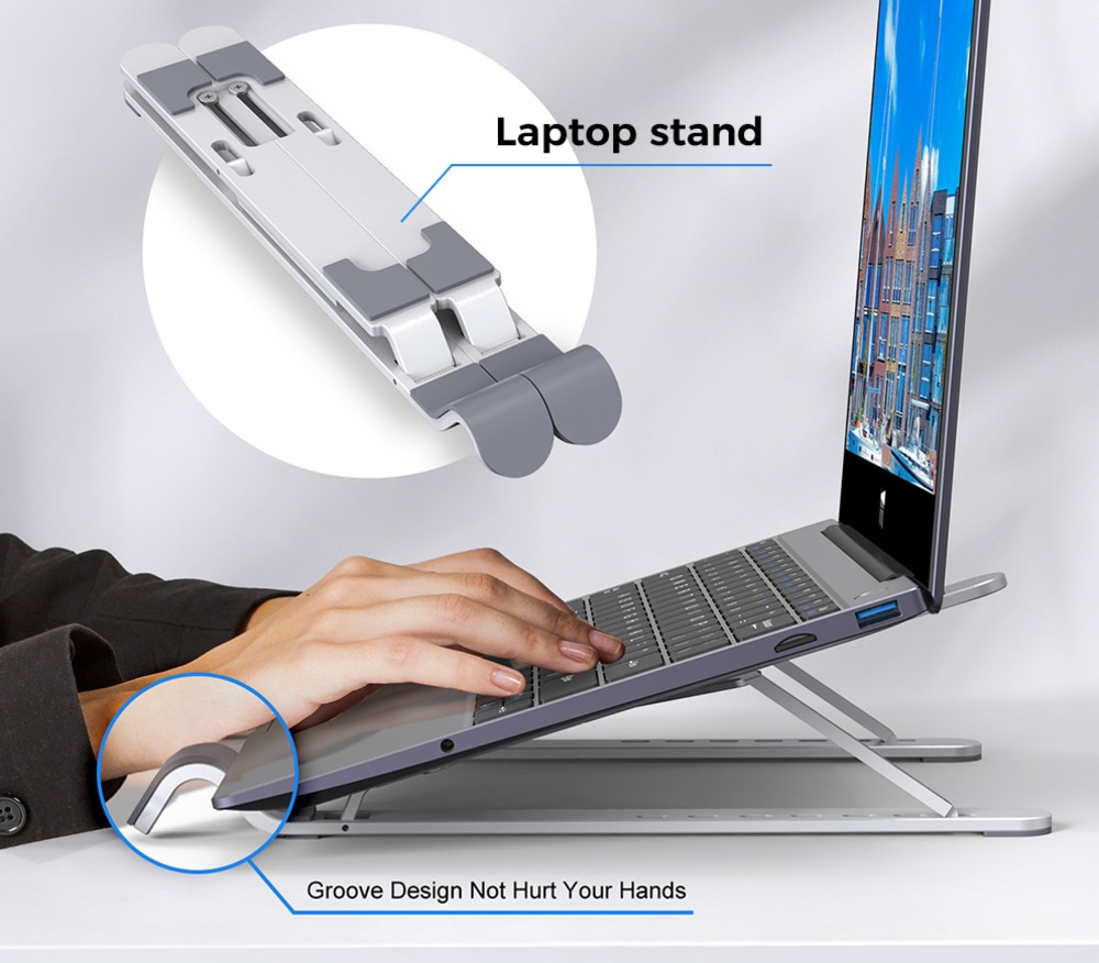 Xidu-soporte de aluminio para ordenador portátil, Base de escritorio para Mac Book...