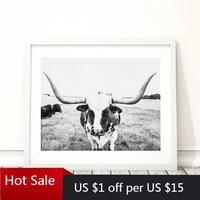 Peinture sur toile avec animaux de ferme et vache  imprimes dart et affiche  decor de maison  Art Mural de campagne