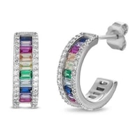 2021 new trendy multi colored princess earrings for women anniversary gift jewelry wholesale e6257