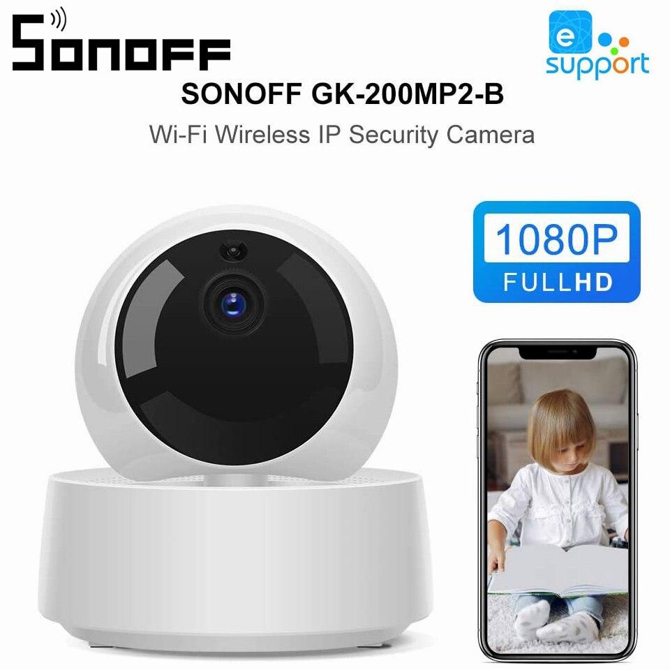 Wi-fi sem Fio Câmera de Segurança em Casa Monitor do Bebê Sonoff Ewelink Inteligente Mini Câmera 1080p hd ip 360 Visão Noturna ir Gk-200mp2-b