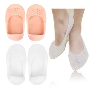 Plantillas de silicona hidratantes para pies y Spa, plantillas de Gel para pedicura de cuidado de pies, 1 par
