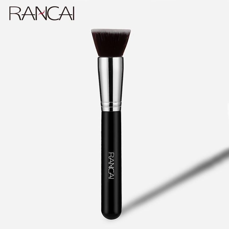 RANCAI Makeup Brush Flat Top Kabuki Foundation  for Liquid Cream and Powder Contour Buffing Blending Concealer Face