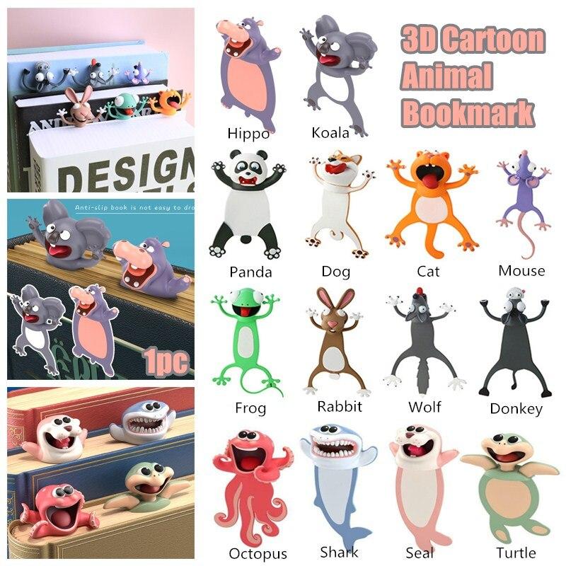 3d engraçado estudante crianças presente estéreo kawaii dos desenhos animados adorável animal marcador de marcador louco mini estudante presente criativo marcador