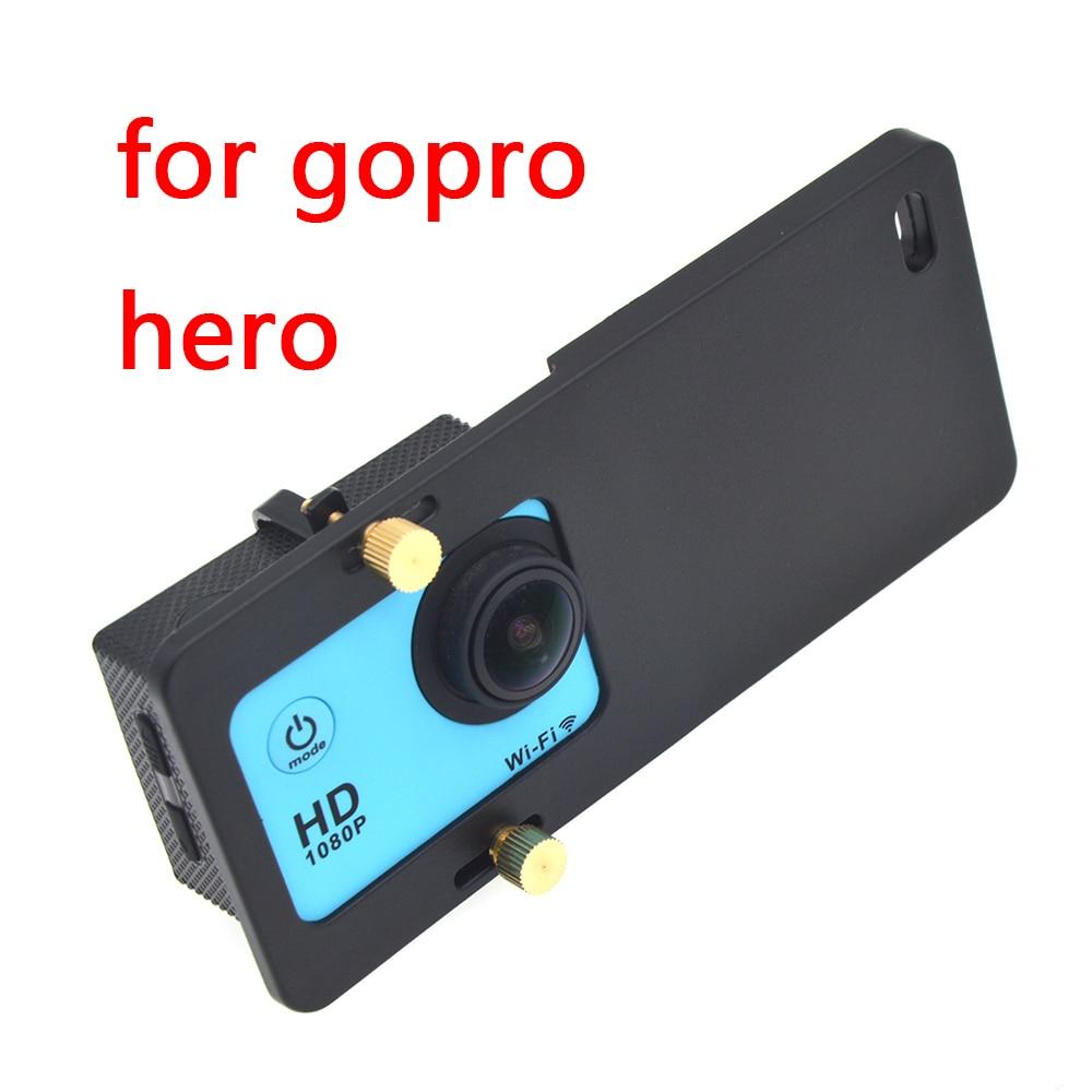 Universal placa de montagem adaptador handheld cardan estabilizador para gopro hero 6/5 yi 4 k mais dji osmo ação 2 câmera cardan handheld