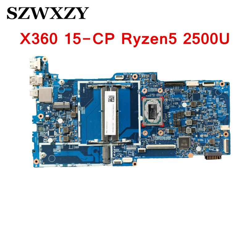 Para a HP Envy X360 15-CP 15Z-CP Motherboard Laptop 17890-2 448.0EE05.0021 L19459-001 Com Ryzen5 2500U Bom trabalho