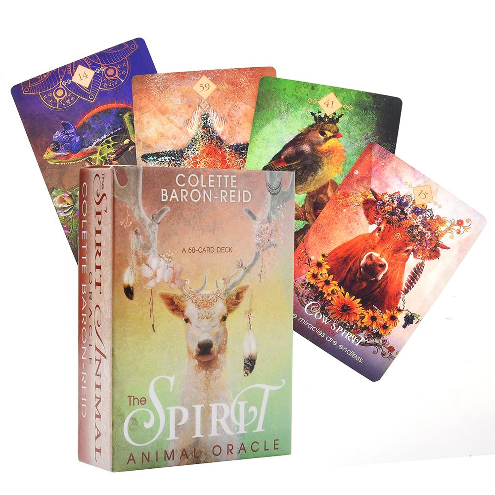 The Spirit Animal oráculo cartas Deck inglés Guidebook Divination juego de mesa naipes