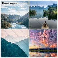 5d diy diamond embroidery mountains and rivers full drill diamond painting mosaic rhinestone pictures cross stitch landscape art
