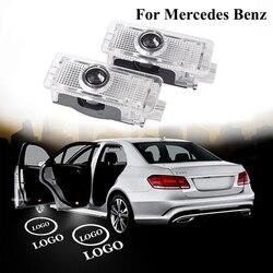 Logotipo do carro led porta luz de boas-vindas para mercedes benz cla cls c218 w218 a207 c207 c117 amg projetor a laser fantasma sombra lâmpada luzes
