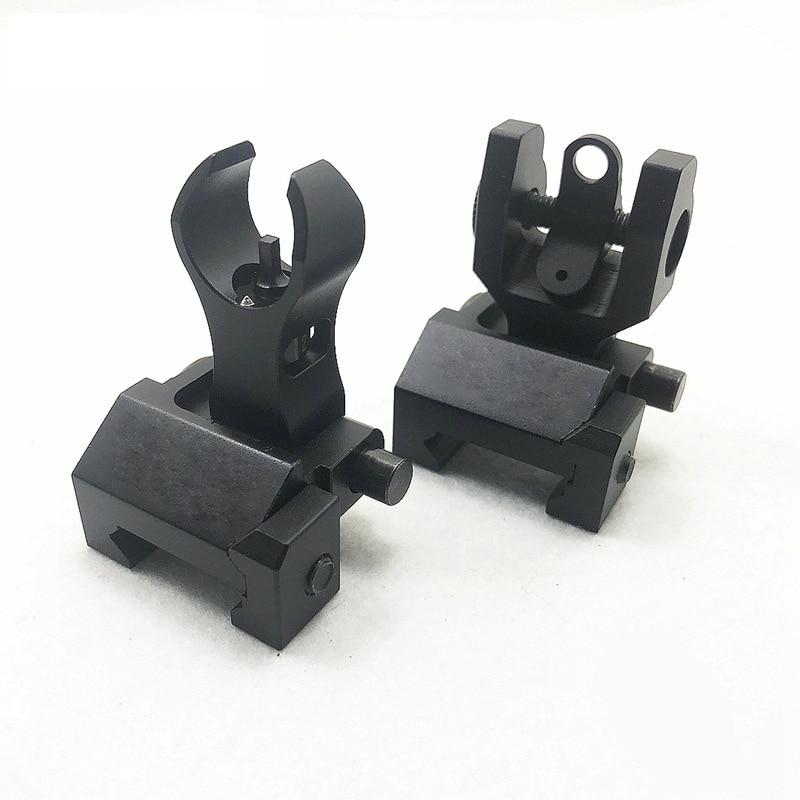 20MM Picatinny Tactical Airsoft Iron Sight AR 15 M4 AR-15 M16 AK 47 Folding Filp Up Mount Sight Scope Paintball Gun Accessories