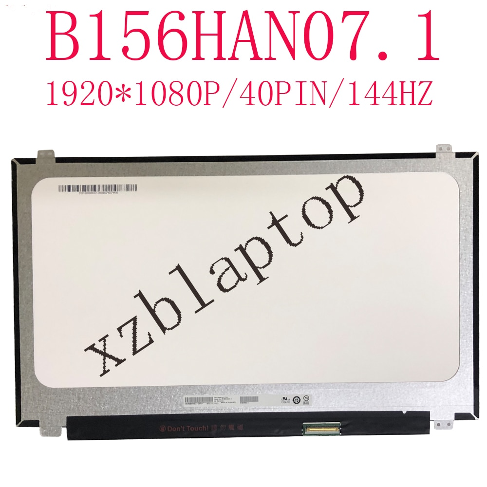 B156HAN07.1 15.6 polegada 1920*1080 tela FHD IPS 40Pin Conector Gama 72% LEVOU tela matriz 144HZ