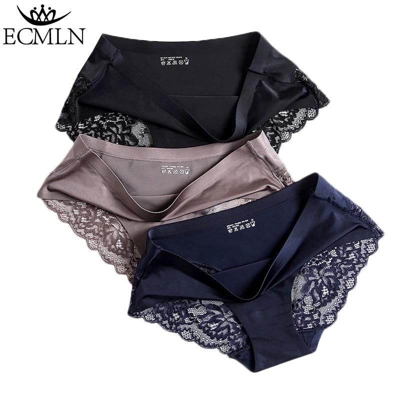 Sexy Women Lace side Underwear Seamless Briefs Nylon Silk for Girls Ladies Bikini Cotton Crotch Breathable Lingerie