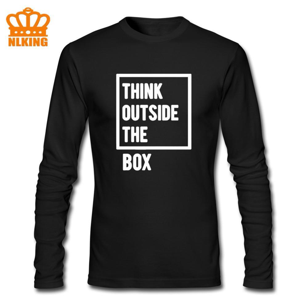 Camiseta de manga larga de algodón con frases inspiradoras de pensamiento creativo, divertido regalo de cumpleaños para hombre, marido, novio, niños