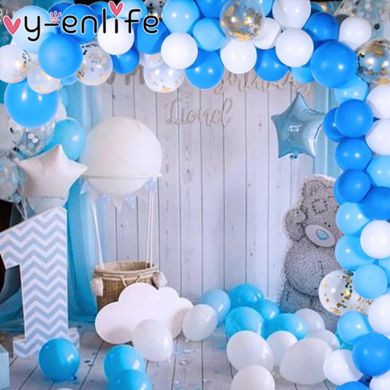 Купить с кэшбэком 1set DIY Balloon Garland Kit Arch Set Black Gold Balloons For Baby Shower Bridal Shower Wedding Birthday Party Background Decor