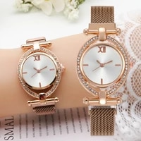 luxury magnetic band watches for women fashion stainless steel simple fashion ladies dress business bracelet quartz wriswatch
