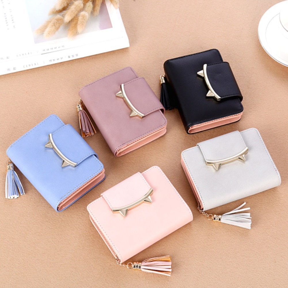 Purse Cute Cat Animal Mini Wallet Women Clutch Money Bags Female Purses Cards Tassel Zipper Hasp Wal