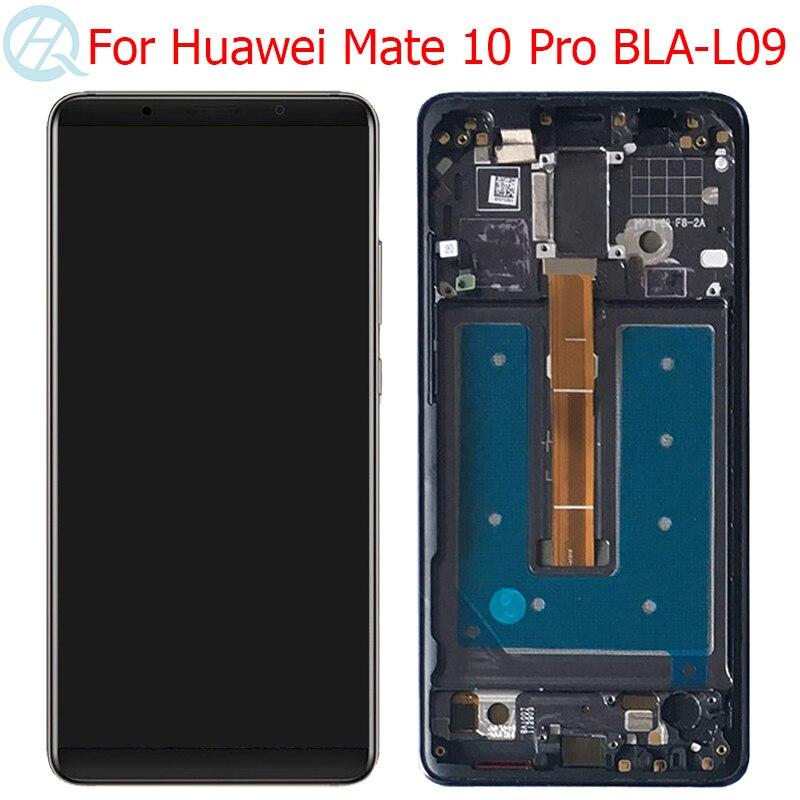 """Oled companheiro 10pro lcd para huawei companheiro 10 pro display com quadro 6.0 """"companheiro 10 pro BLA-L09 BLA-L29 BLA-AL00 lcd peças da tela de toque"""