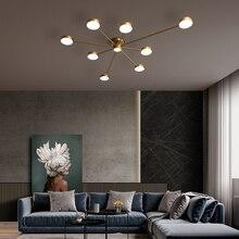 Moderne luxe Led lustres éclairage salon chambre plafond lustre lampe Loft cuivre lustres lumière éclairage intérieur