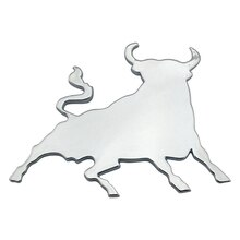 3D spanish fight bull chrome sticker self adhesive car / van sticker emblem badge logo toro badge