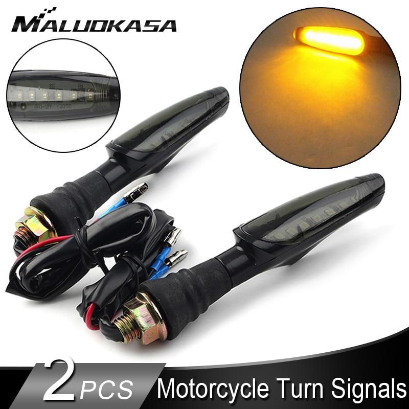 AliExpress - 2PCS Universal LED Motorcycle Turn Signal Light Amber Light Smoke Chimney Indicator Blinker Lamp Light