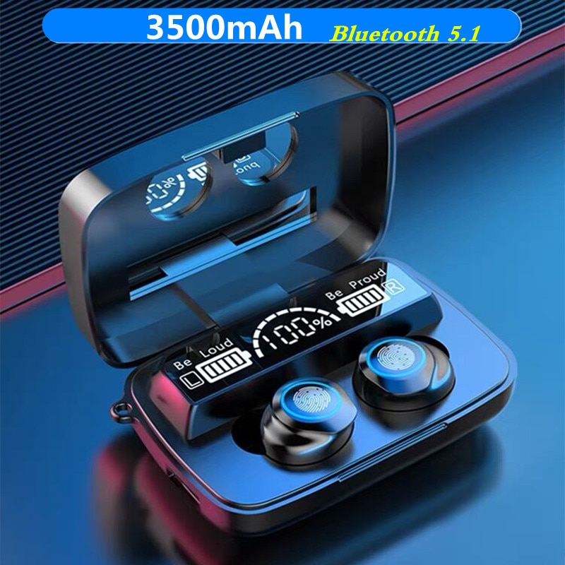 TWS Bluetooth 5.1 Earphones 3500mAh Charging Box Wireless Headphone 9D Stereo Sports Waterproof Earb
