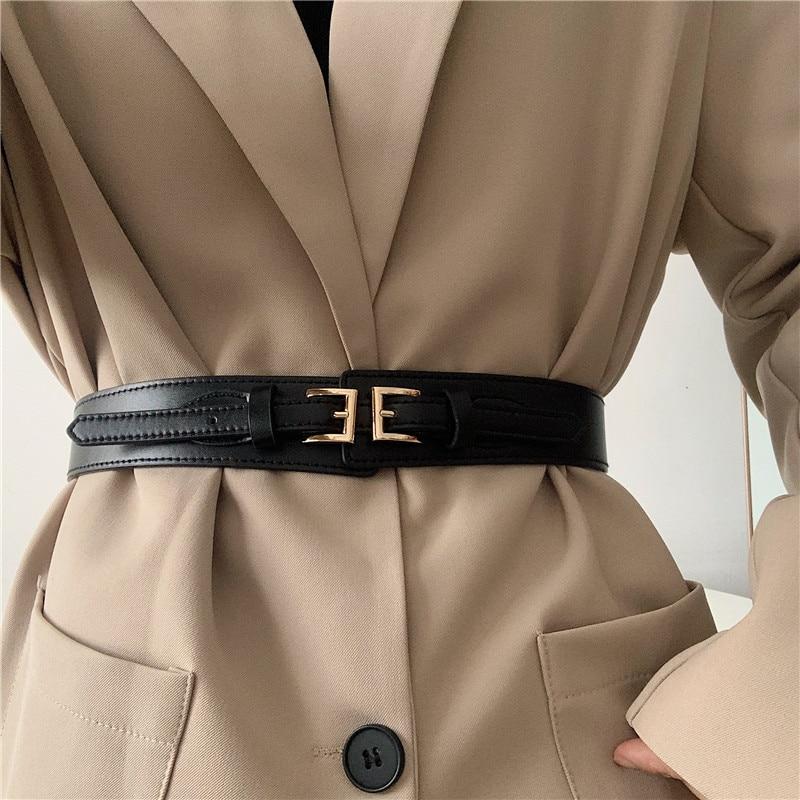 Elegance Retro Elastic Belt Female Ornament Fashionable All-Match Dress Shirt Suit Slimming Waist-Ti