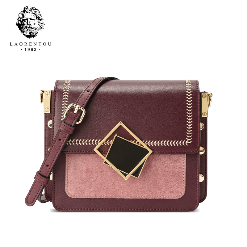 OLDSTERHEAD Women 2021 Fashion Leather Messenger Bag Shoulder Cross Body Female Vintage Handbags Tre