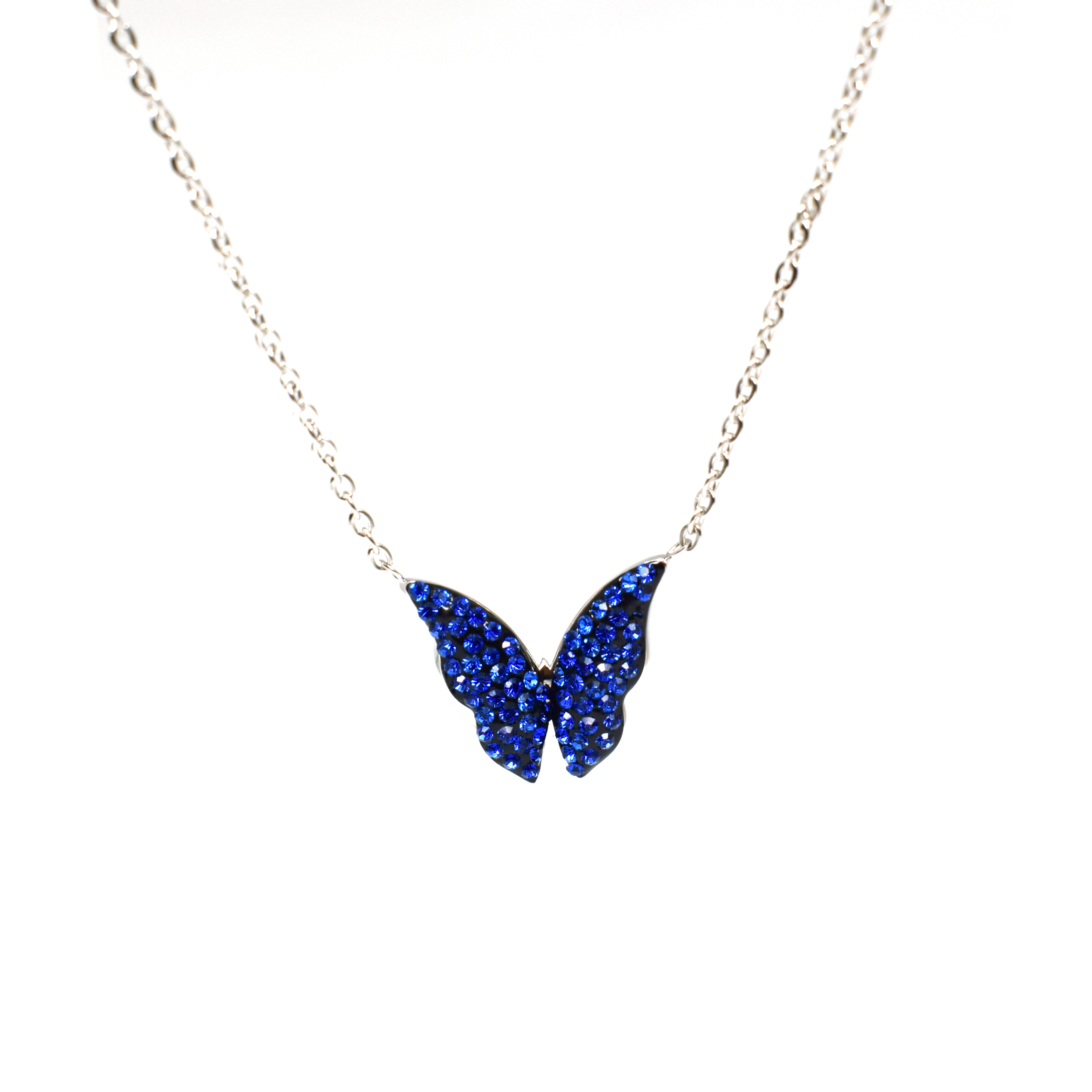 Get Stainless Steel Chain Butterfly Necklace for Women Gold Wholesale CZ Pendant Choker Necklace Jewelry Bridesmaid Gifts