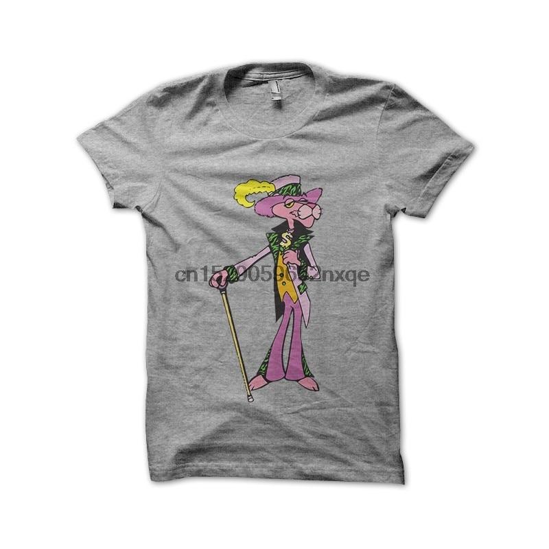 Camiseta de hombre, camiseta de Pantera Rosa en color gris, camisetas de chulo para mujer