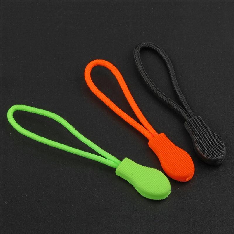12 Pieces/Lot zipper puller Black Green Orange Zipper Sliders For Bag Garment Suitcase End Fit Rope Tag Fixer Zip Cord