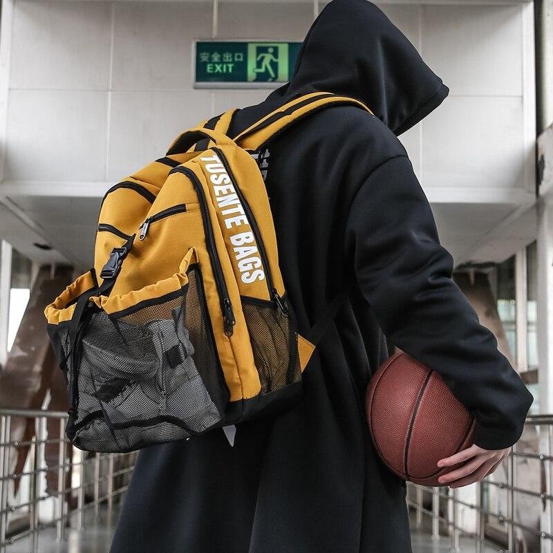 حقيبة تدريب كرة السلة ، شبكة الرياح ، سعة كبيرة ، للطلاب ، حقيبة ظهر رياضية متعددة الوظائف