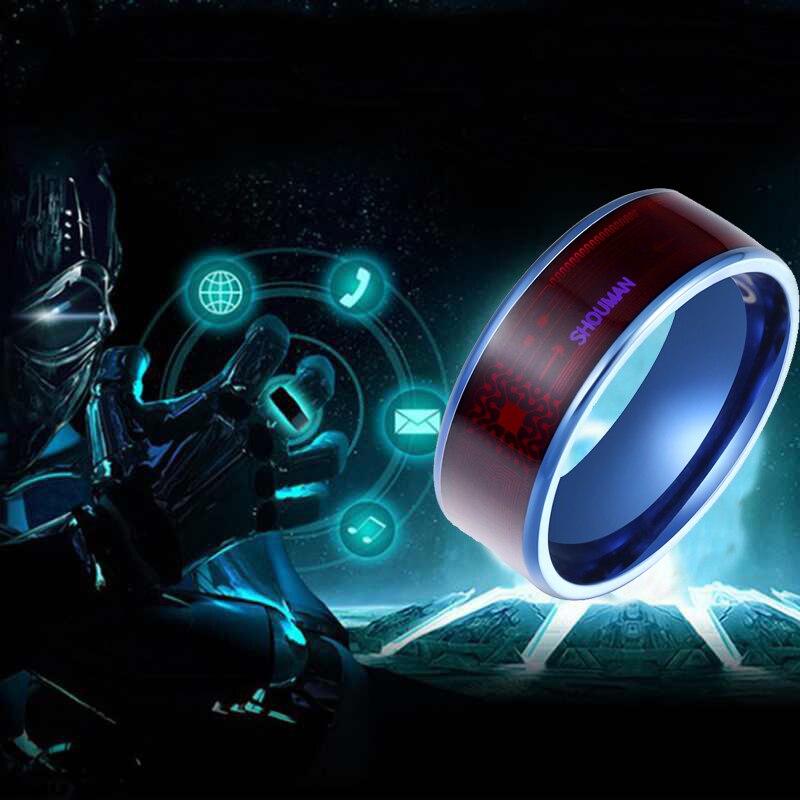 3 umeter moda masculino inteligente anel magia usar nfc dedo digital anel para telefones android com casal funcional de aço inoxidável