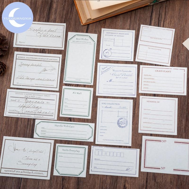 Bloc de notas YueGuangXia con 4 diseños Retro de caracol, Nota de papel especial, Bloc de notas de hojas sueltas, Bloc de notas creativo para diario, Bloc de notas, 30 unidades por lote