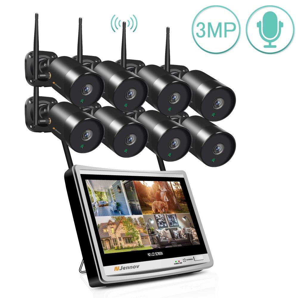 Jennov 8CH 1080P de seguridad al aire libre 3MP CCTV cámaras Wifi...