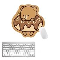 lovely animal mouse pad kawaii bear desk mat pads waterproof office decoration cup mat antislip girls boys cute stationary